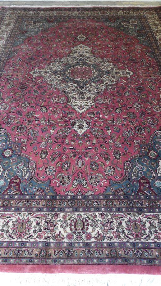 Tapete Artesanal Iran kashan 980 pontos 3,45 x 2,48 = 8,56 m² código 300-03041 R$ 11.898,00 a peça em 06x ..