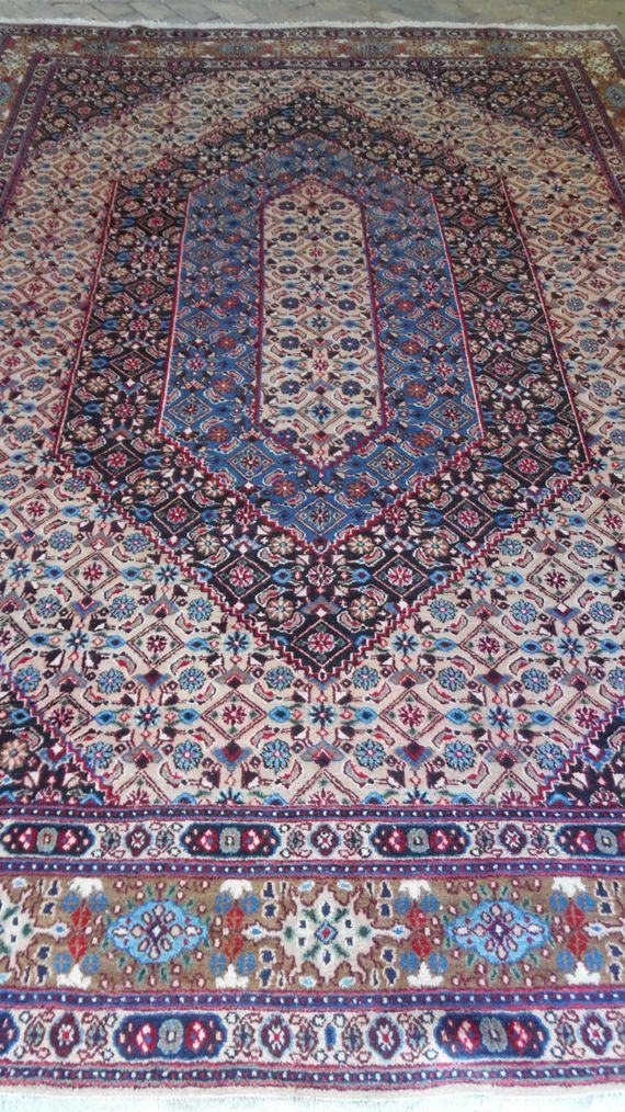 Tapete Artesanal Iran Moud 600 pontos 3,37 x 2,43 = 8,19 m² código 300-03862 R$ 9.746,00 a peça em 06x ..
