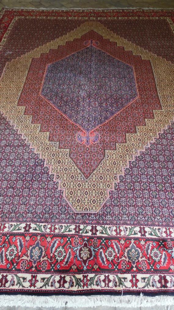 Tapete Artesanal Iran Senneh 980 pontos 3,44 x 2,57 = 8,84 m² código 300-04061 R$ 12.287,00 a peça em 06x ..